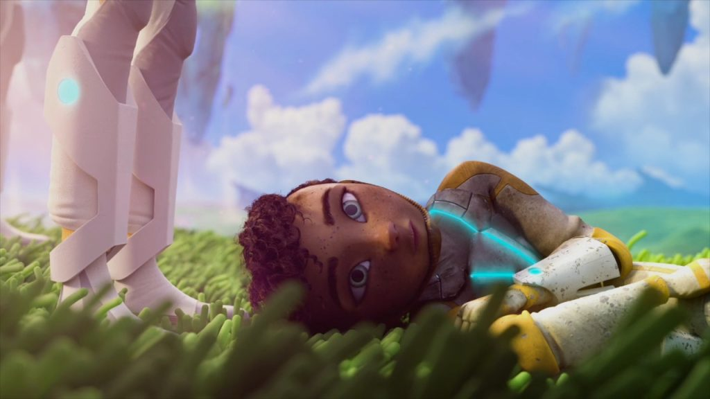 'ESCAPE' protagonist lying on grass
